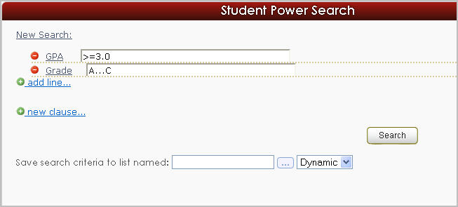 Student Power Search