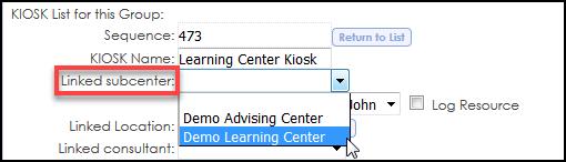 Kiosk - Link Center
